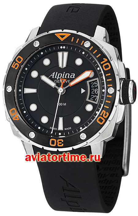 Швейцарские часы Alpina AL-240LBO3V6 ADVENTURE SEASTRONG COLLECTION Diver 300 MidSize