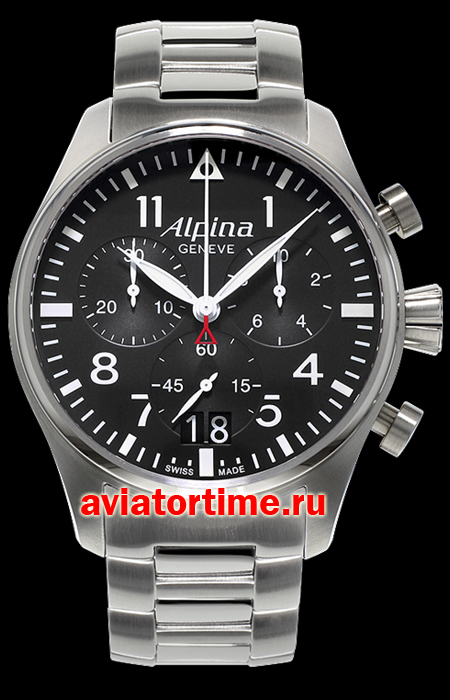 Швейцарские часы Alpina AL-372B4S6B AVIATION Startimer Pilot