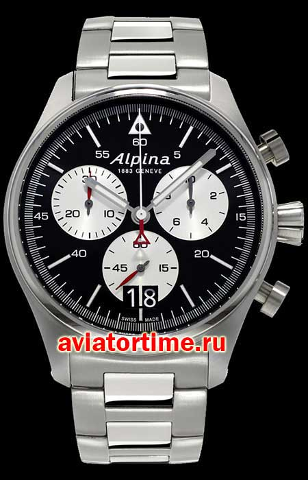 Швейцарские часы Alpina AL-372BS4S6B AVIATION Startimer Pilot