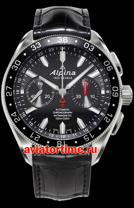 Швейцарские часы Alpina AL-860B5AQ6 AVIATION Chronograph