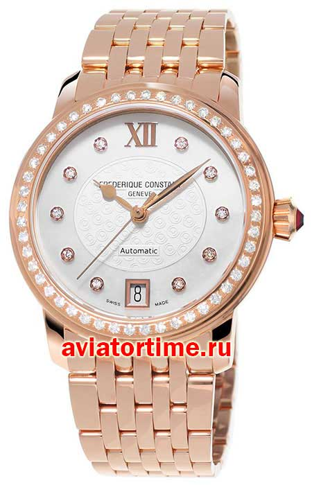 Швейцарские часы Frederique Constant FC-303WHF2PD4B3 Ladies Automatic World Heart Federation