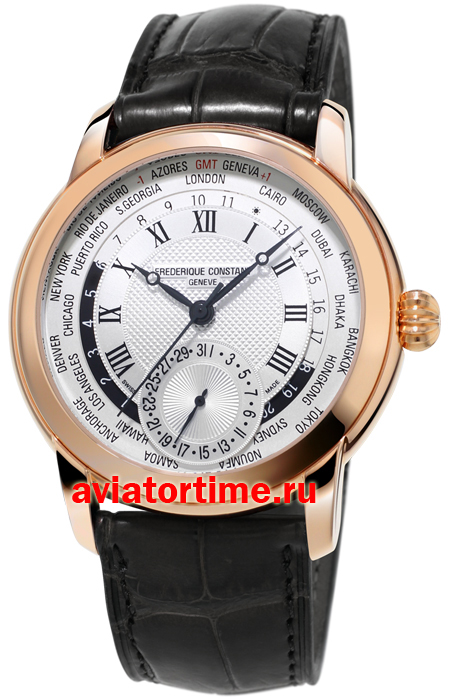 Швейцарские часы Frederique Constant FC-718MC4H4 Worldtimer