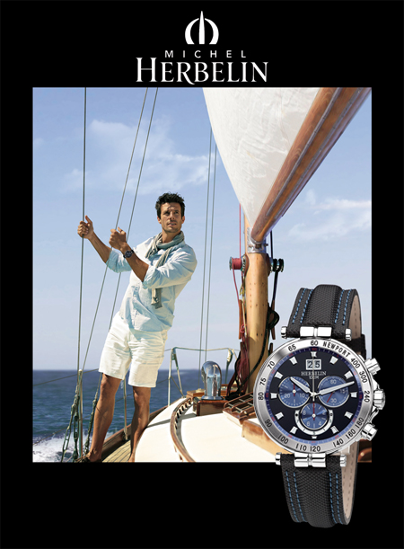 Michel Herbelin 36695-B65.SM Newport Yacht Club Chronograph и яхта.